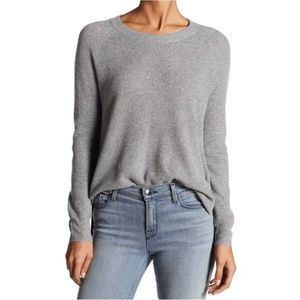 MADEWELL Waffle Knit Pullover Sweater Gray Large
